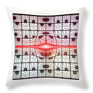 Molecule Flare Throw Pillow