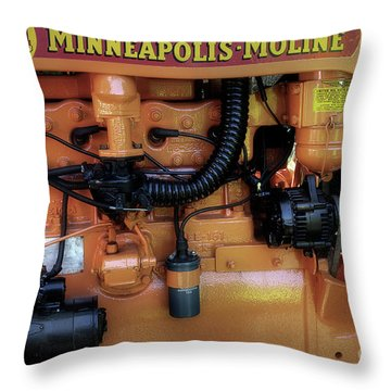 Moline Engine Throw Pillow