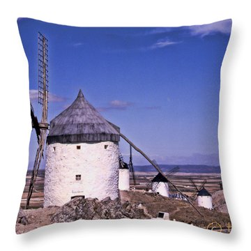 Molinos De La Mancha Throw Pillow by Hans Fotoboek