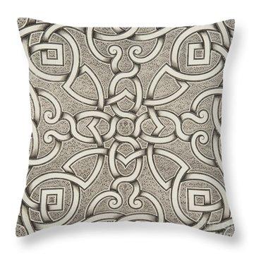 Mollet Design For A Parterre Throw Pillow