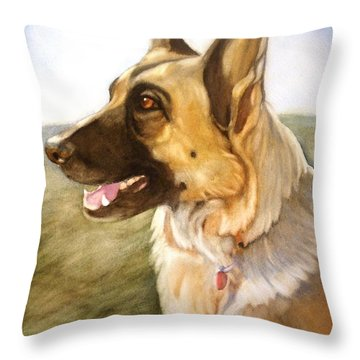 Mollie Throw Pillow by Marilyn Jacobson