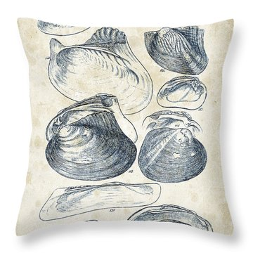 Freshwater Mussel Throw Pillows
