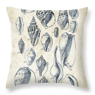 Mollusca Throw Pillows
