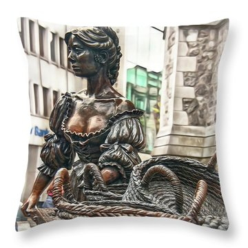 Throw Pillow featuring the photograph Molly Malone by Hanny Heim