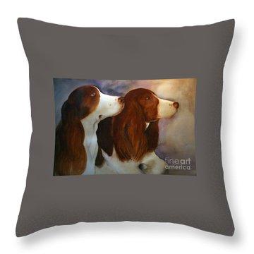 Molly N Meg Throw Pillow