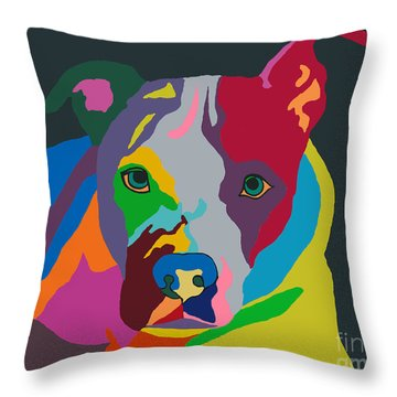 Molly Psychedelic Throw Pillow