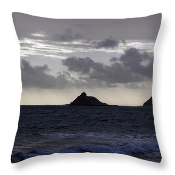 Molokai From Oahu Throw Pillow