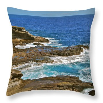 Molokai Lookout 0649 Throw Pillow by Michael Peychich