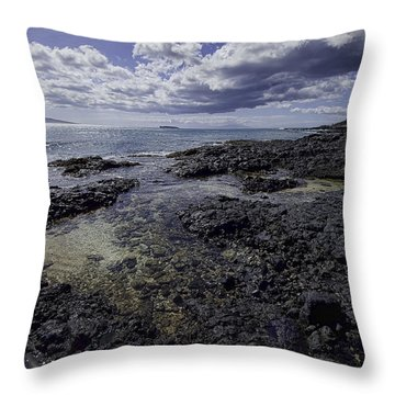 Molokini Beach Throw Pillow