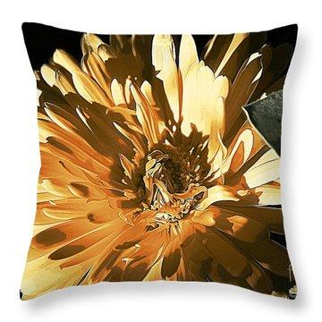 Molten Gold Throw Pillow by Erica Hanel