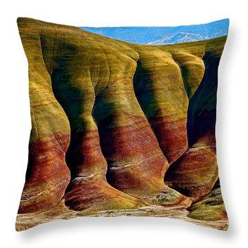 Molten Hills Throw Pillow