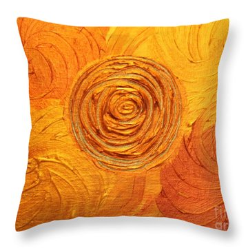 Molten Spiral Throw Pillow by Rachel Hannah