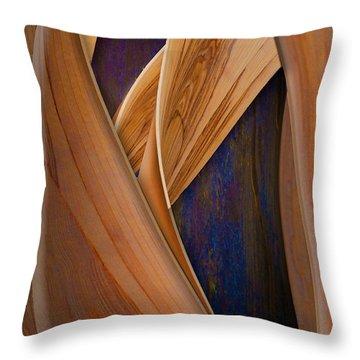 Molten Wood Throw Pillow