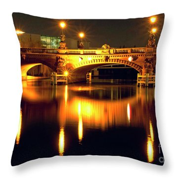 Nocturnal Sound Of Berlin Throw Pillow