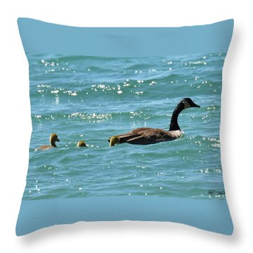 Throw Pillow featuring the photograph Mom, I Think There Is A Small Craft Warning by Sally Sperry