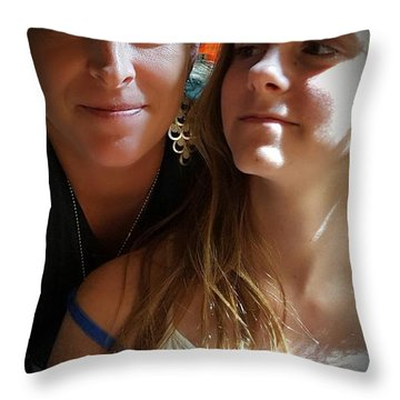 Mom Moments Throw Pillow