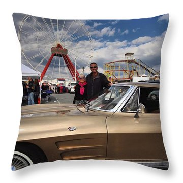 Mom N Vette Throw Pillow