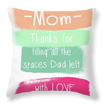 Mom On Father's Day- Greeting Card Throw Pillow