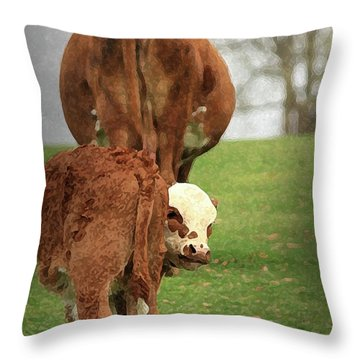 Throw Pillow featuring the digital art Moma Said by Kim Henderson
