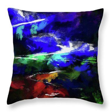 Moment In Blue Lazy River Throw Pillow