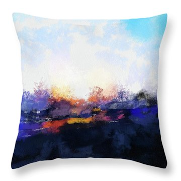 Moment In Blue Spaces Throw Pillow