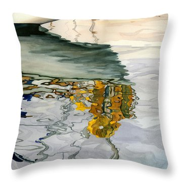 Moment Of Reflection Ix Throw Pillow by Marguerite Chadwick-Juner