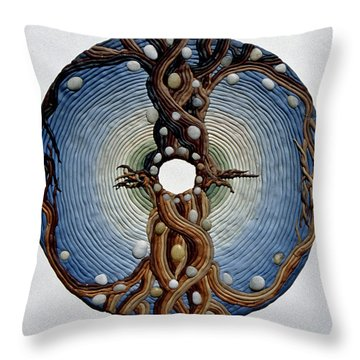 Momentary Node Of Connection - Tears Of Stone Throw Pillow by Arla Patch