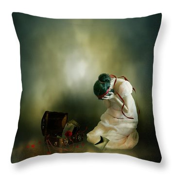 Momento Throw Pillow by Mary Hood