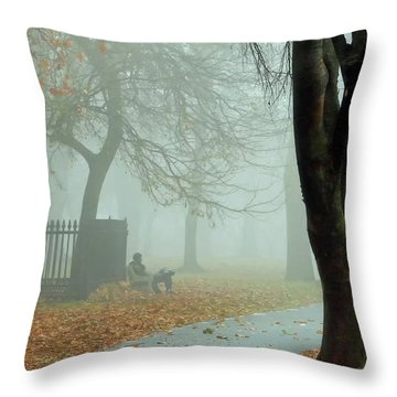 Moments Alone Throw Pillow