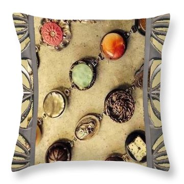 Moments In Time Bracelet Art Throw Pillow by Heidi Walkush