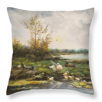 Moments Of Silence Throw Pillow by Sorin Apostolescu