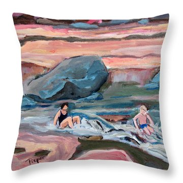 Momma At Slide Rock Park Arizona Throw Pillow