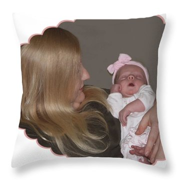 Momma Love Throw Pillow