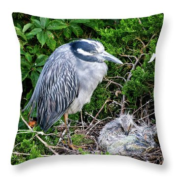 Mommy And Baby Throw Pillow