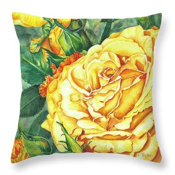 Mom's Golden Glory Throw Pillow