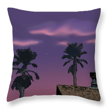 Mom's House Throw Pillow by Walter Chamberlain