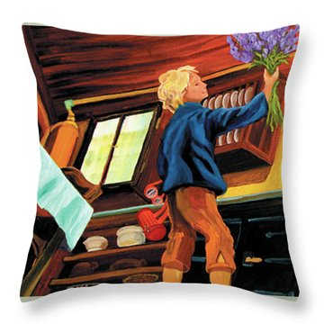 Mom's Kitchen Throw Pillow