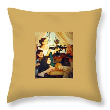 Mom's Sewing Room  Throw Pillow