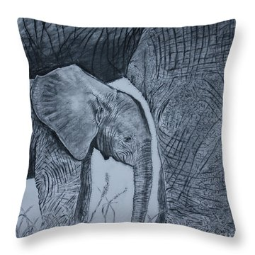Moms Shadow Throw Pillow by David Joyner