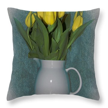 Moms Tulips Throw Pillow by William Havle