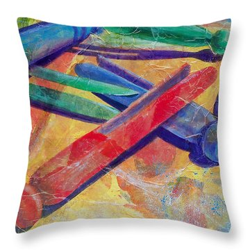 Mom's Wash Day Throw Pillow