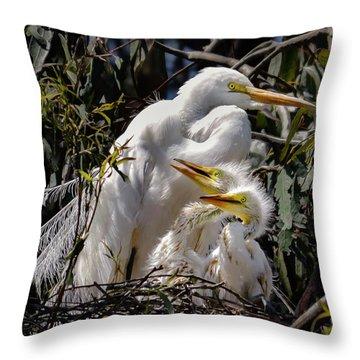 Mom's Watchful Eye Throw Pillow