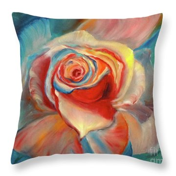 Mon Ami Throw Pillow by Jenny Lee