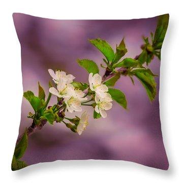 Mon Cherry Throw Pillow by Bulik Elena