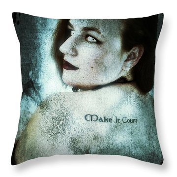 Mona 1 Throw Pillow by Mark Baranowski