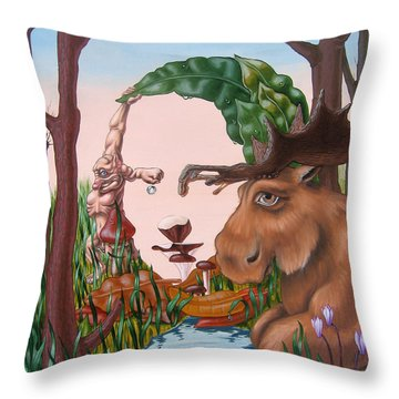 Mona Lisa . Earth Throw Pillow
