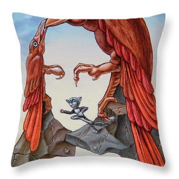 Mona Lisa. Air. Throw Pillow