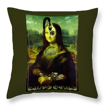Mona Lisa Borg Throw Pillow