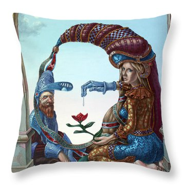 Mona Lisa. Love Throw Pillow