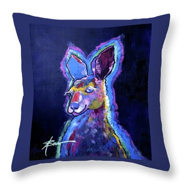 Mona Lisa 'roo Throw Pillow